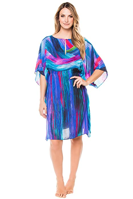 9d8a48992d Gottex Women's Festival Print Tunic Swim Cover Up Multi S at Amazon Women's  Clothing store: