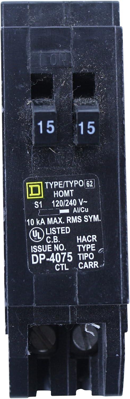 SQUARE D HOMT1515 TYPE HOMT HOMELINE 1P 15 AMP TANDEM DUPLEX CIRCUIT BREAKER