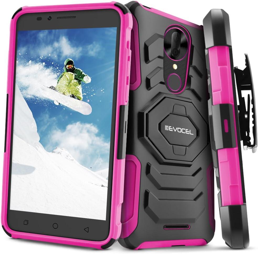T-Mobile REVVL Plus Case, Evocel [New Generation Series] Belt Clip Holster, Kickstand, Dual Layer for T-Mobile REVVL Plus C3701A, Pink (Does NOT fit REVVL 2 Plus - only REVVL Plus)