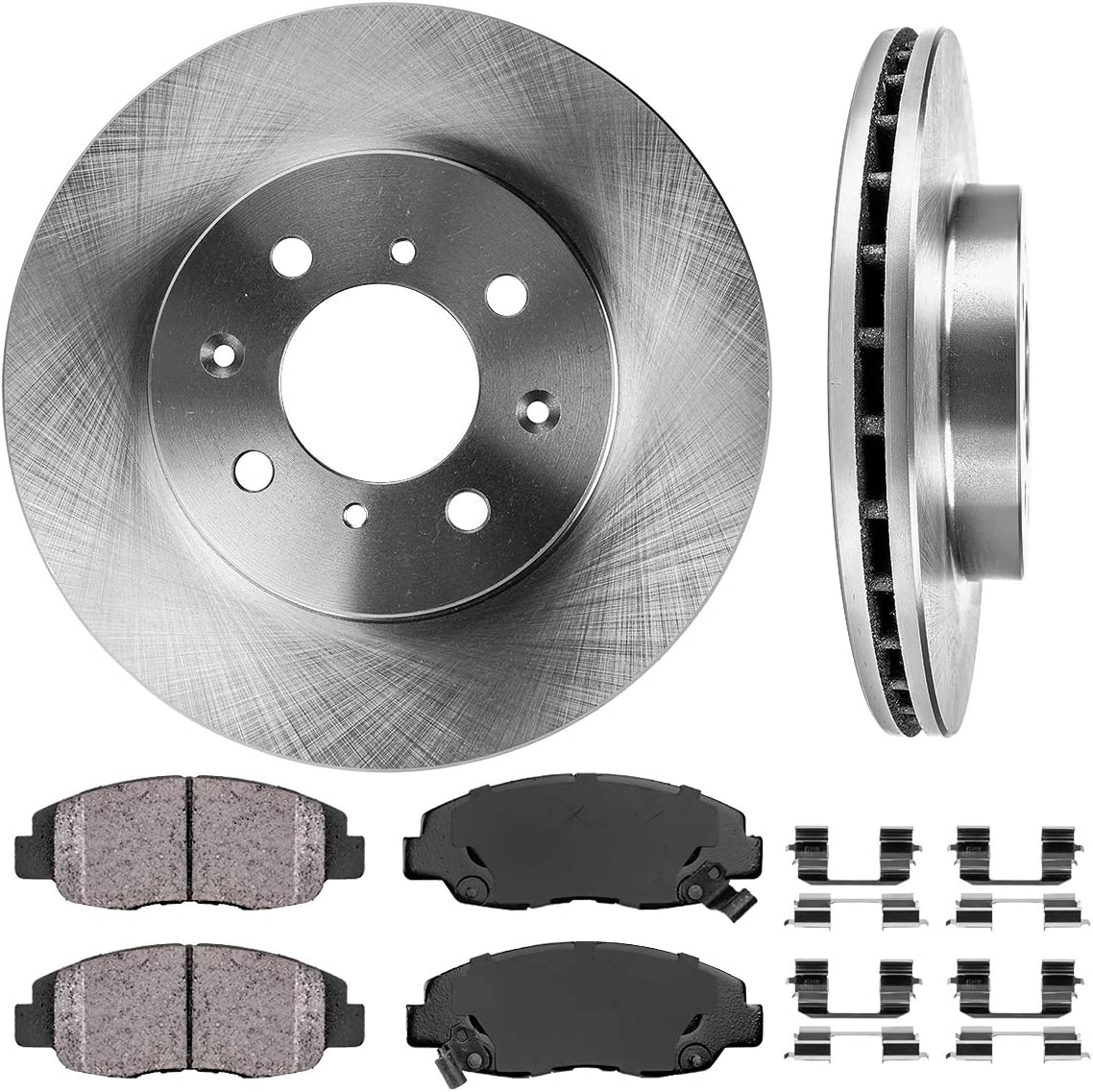 Front Premium Rotors and Ceramic Pads for Ford F-150 w// 2W ABS 1994-1996