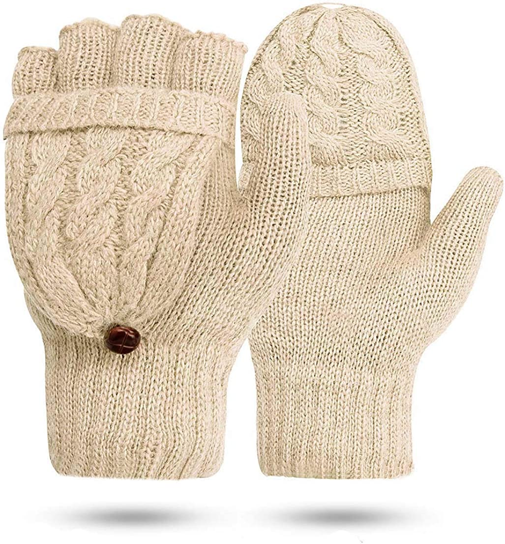Winter Halb Handschuhe Damen Gestrickte Pulsw/ärmer Strick Kurzer Fingerless Armstulpen F/äustlinge JORYEE Damen Fingerlose Handschuhe