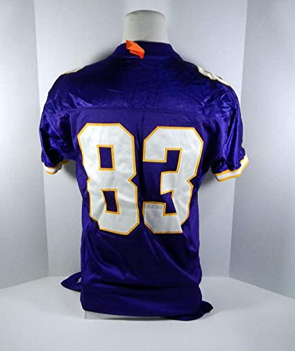 07b20599f Image Unavailable. Image not available for. Color  1997 Minnesota Vikings   83 Game Issued Purple Jersey - Unsigned NFL Game Used Jerseys