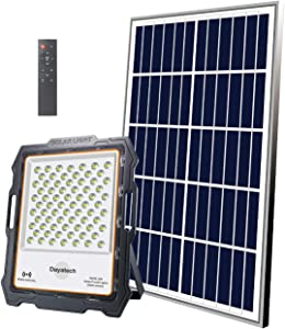 DAYATECH Solar Security Light Outdoor, 200W 144pcs LED Solar Street Light with Radar Sensor with Remote Control IP65 Solar Powered for Sports Courts, Path Way, Garden, Pool, Barn, Front Door