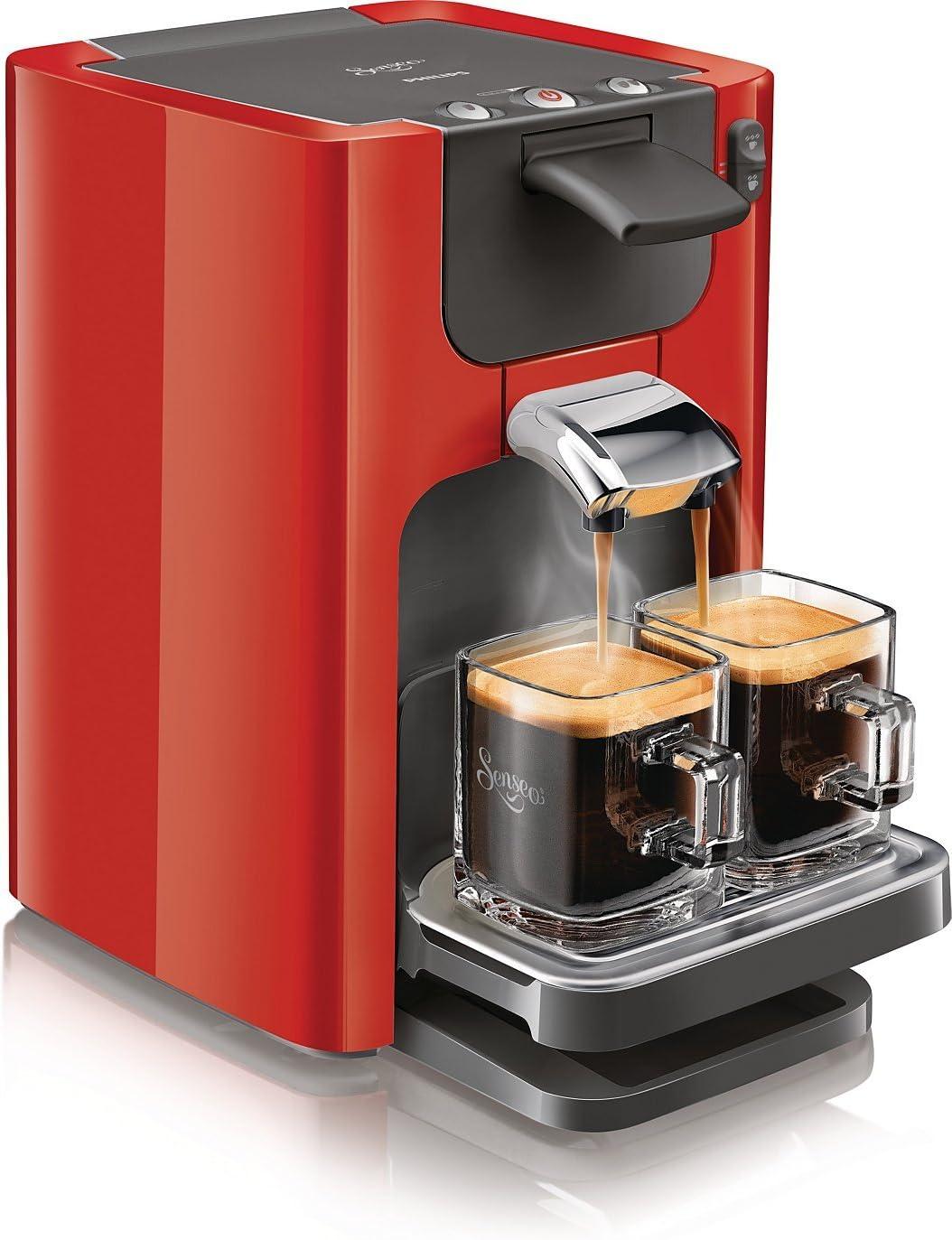 Philips Senseo Quadrante - Cafetera monodosis, color rojo ...