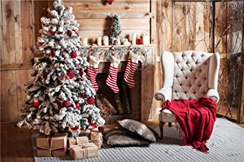 the best attitude 623d3 7bca3 Daniu Photo Backdrops Christmas Trees Studio Wooden Photography Vinyl  Background Sofa 7x5FT Daniu-Christmas126