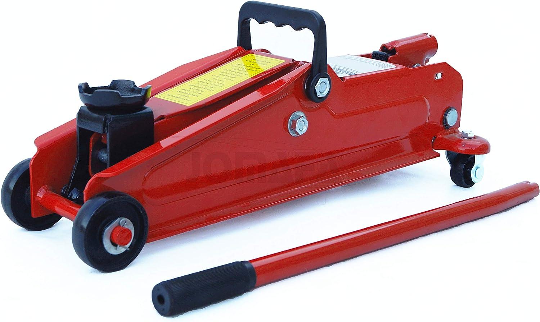 Gato hidraulico de carretilla 3 toneladas para levantar vehiculos JOMAFA rojo