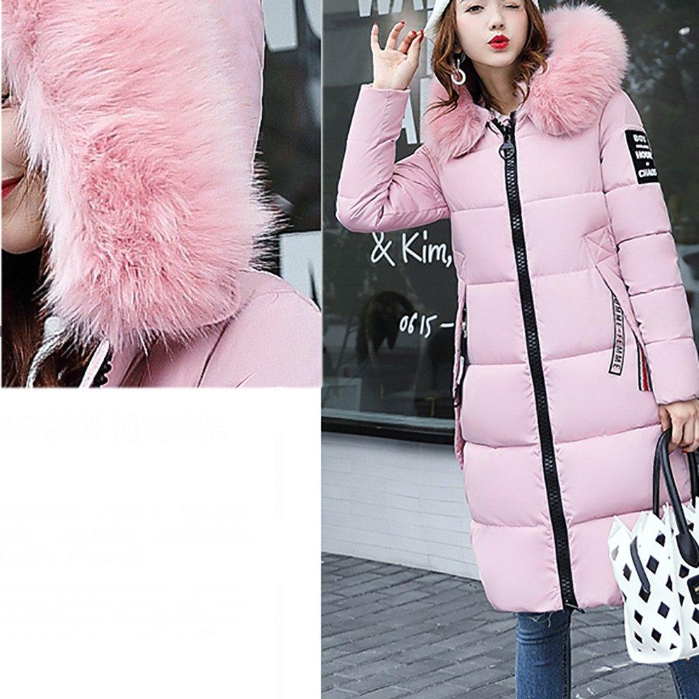 Covermason Manteau Hiver Femme Jacket Elegant Uni Zip Long