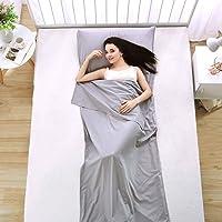 Ligero Portable Saco Bolsa Dormir Liner, Luxebell 210 * 70cm de Algodón de Gran Tamaño Suave Saco de Dormir Liners para…