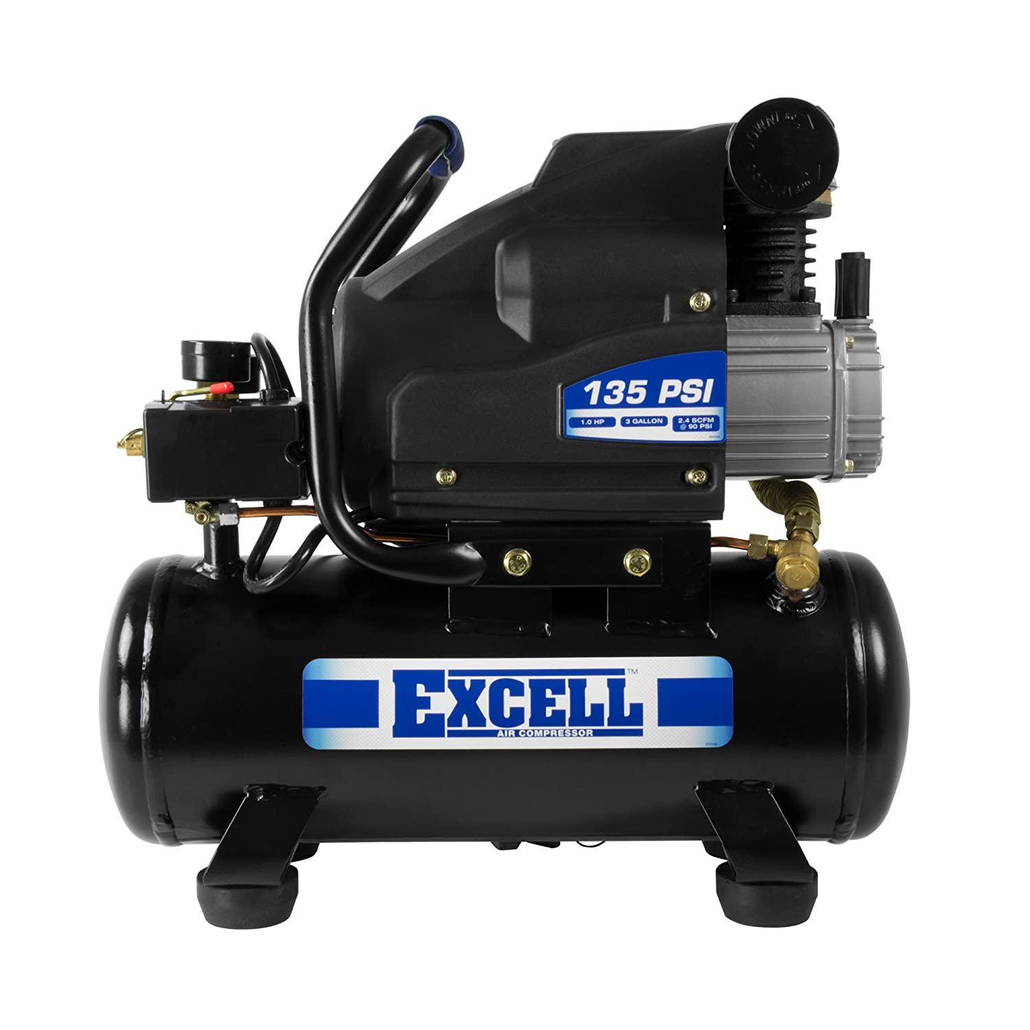 Excell 3 Gallon Oil Lubricated Air Compressor - L13Hpe EXCELL Air Compressors