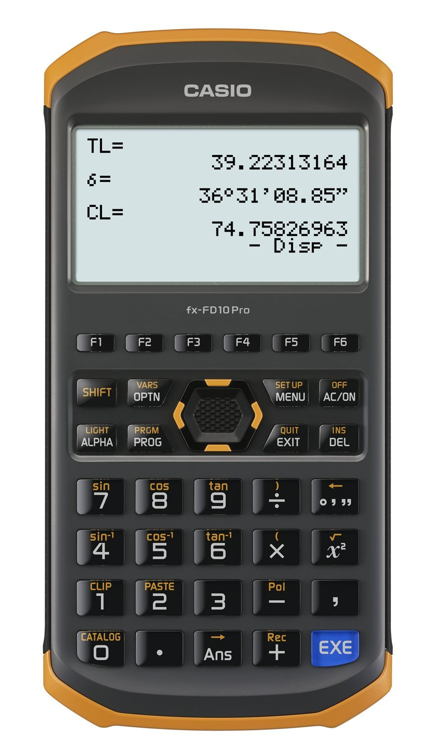 Casio civil engineering surveying specialized calculator fx-FD10 Pro by Casio