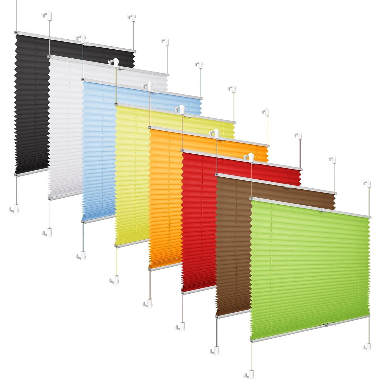 Tende Plissettate Tenda Plissè Oscurante, montaggio senza fori, beige, 60 x 130cm, Klemmfix per Finestre Bobotogo