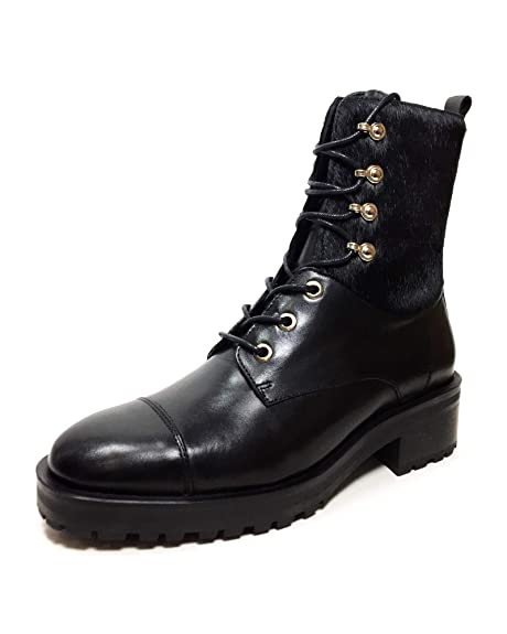 065a6e4ef7b Massimo Dutti Women's Black Leather lace-up Ankle Boots 6210/321 ...