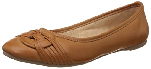 Buy BATA Women's Rebecca Tan and Light Brown Ballet Flats - 4 UK ...