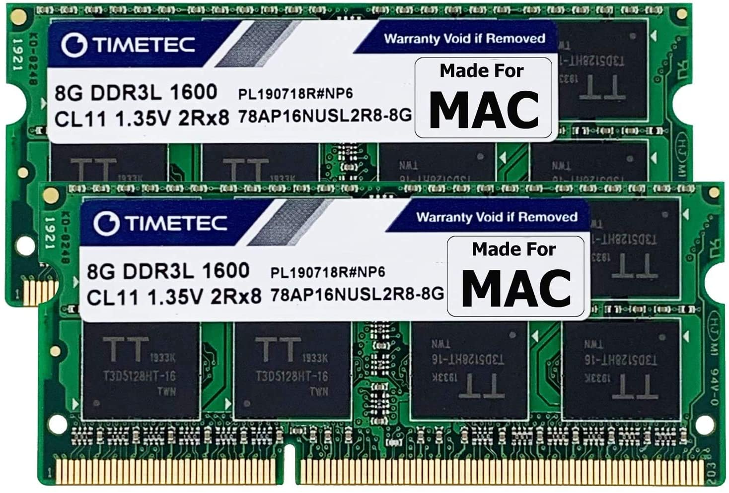 Timetec Hynix IC Apple 16GB Kit (2x8GB) DDR3 1600MHz PC3-12800 SODIMM Memory Upgrade For MacBook Pro, iMac, Mac mini/ Server