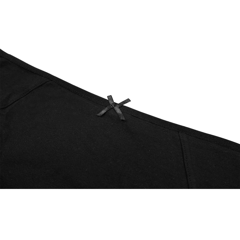CharmLeaks 4 Pack Women Cotton Bikini Underwear Soft Knicker