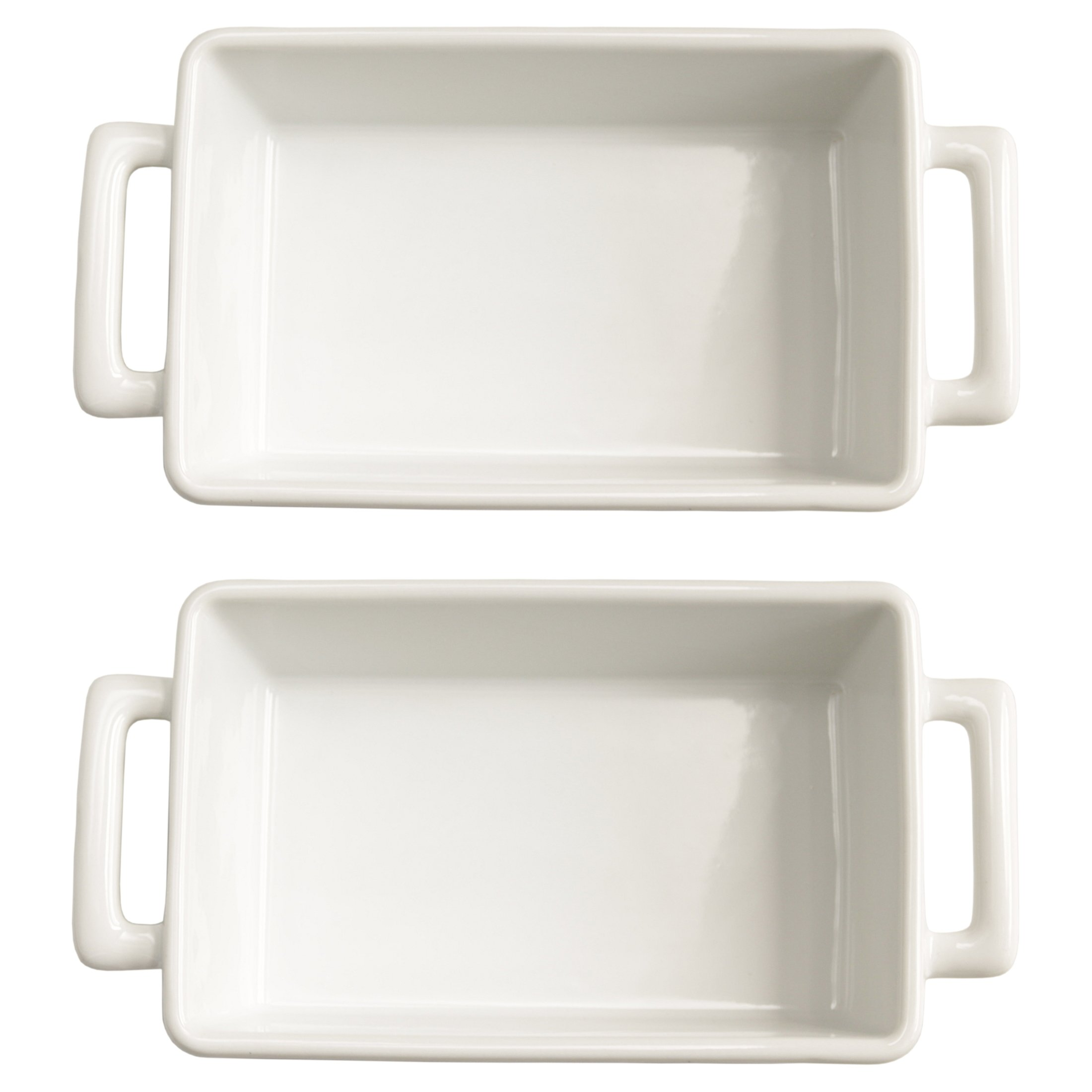 HIC Harold Import Co White Porcelain 8.5 x 5.5 Inch Individual Lasagna Pan, Set of 2 by HIC Harold Import Co.