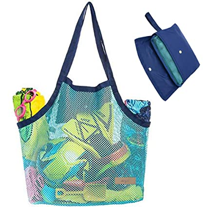 d138e89dffb Beach Mesh Tote Bag Toys Beach Bag Perfect for Holding Childrens' Toys (Xl  Size