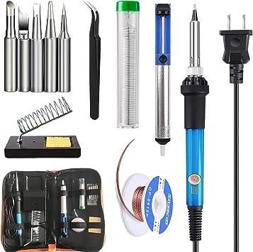 Electric Soldering Iron Gun Tool Kit 60W Welding Desoldering Pump Tool Set US//AU