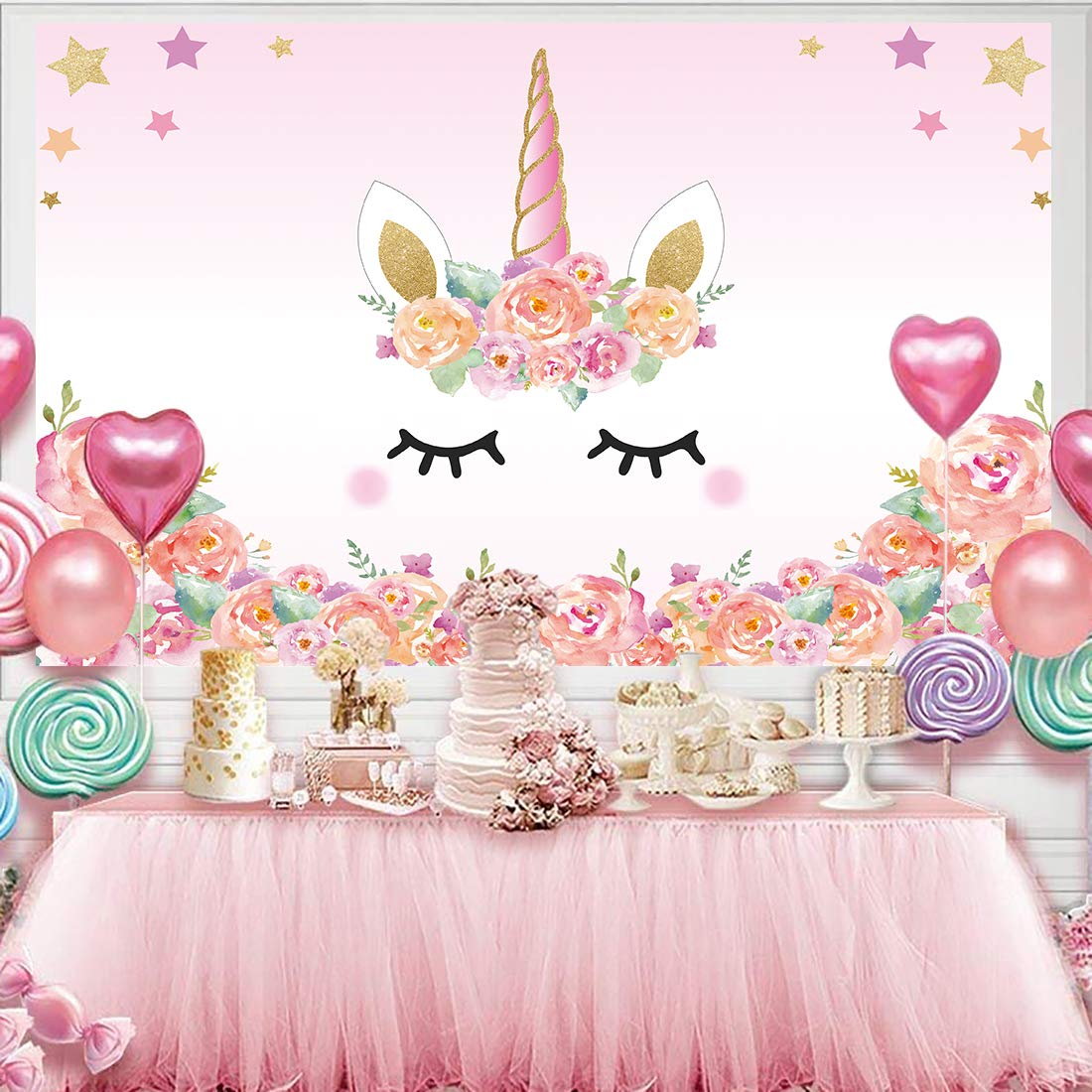 Buy Allenjoy Design 5x3ft Unicorn Theme Birthday Pink Party Backdrop For Girl Baby Shower Backdrops Background Event Decor Decorations Newborn Portrait Photography Pictures Supplies Favors Online At Low Price In India