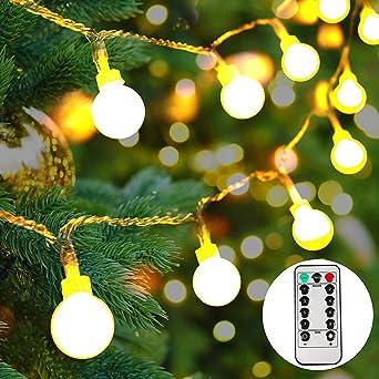 Batterie Weihnachtsbeleuchtung Aussen.Lichterkette Batterie Außen 100 Leds Globe Lichterkette Led Lichterkette Warmweiß Weihnachtsbeleuchtung Für Party Garten Hochzeit 10m