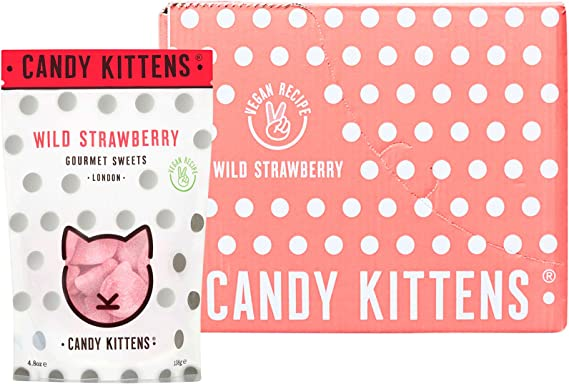 Candy Kittens Wild Strawberry Vegan Sweets Palm Oil Free
