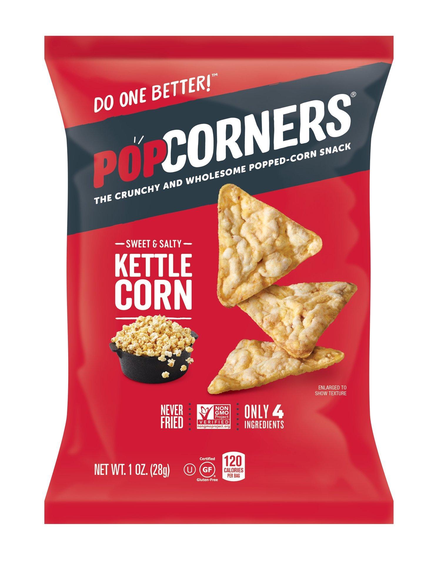 PopCorners Kettle Corn Snack Pack   Gluten Free, Vegan Snack   (40 Pack, 1 oz Snack Bags) by Popcorners