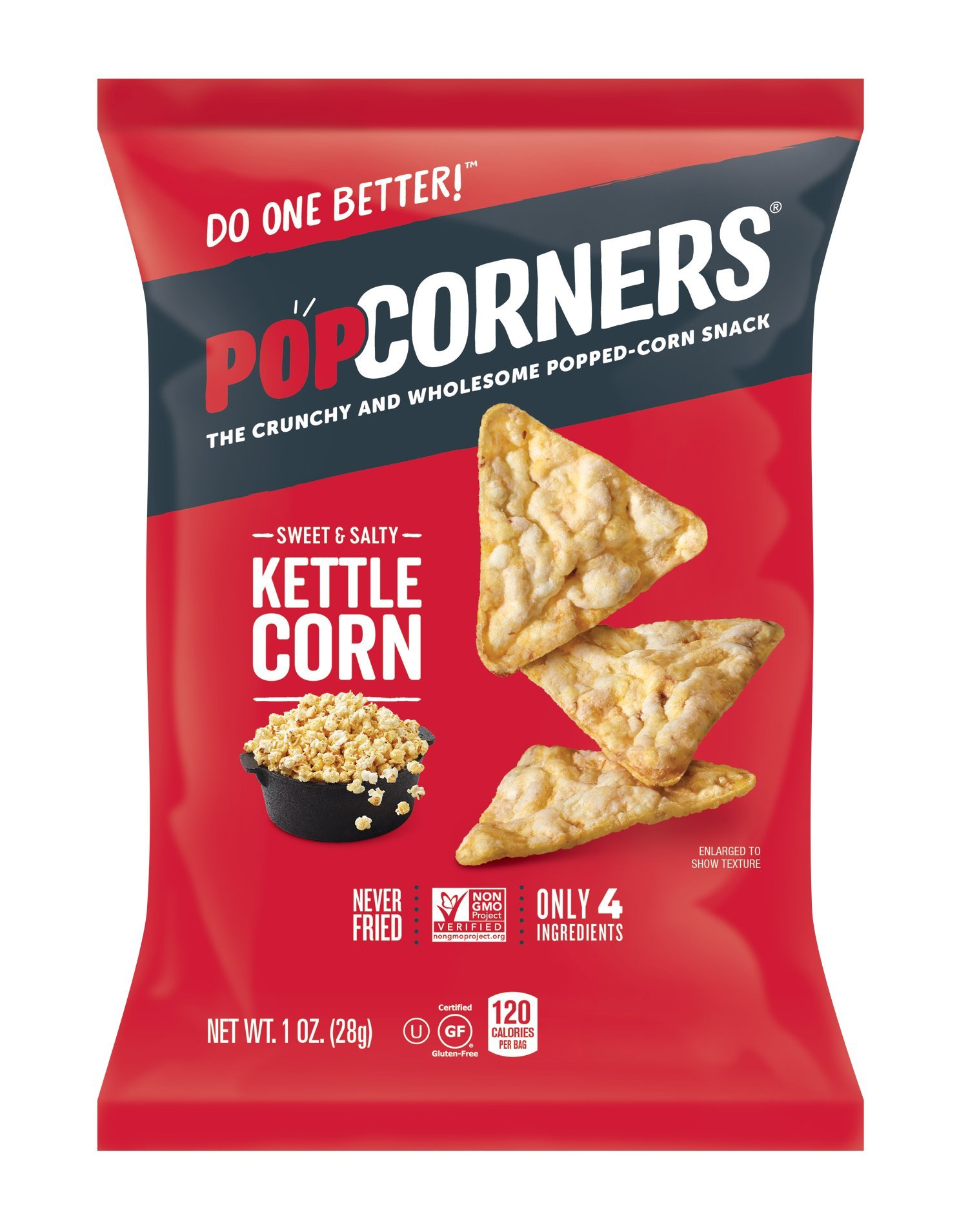 PopCorners Kettle Corn Snack Pack | Gluten Free, Vegan Snack | (40 Pack, 1 oz Snack Bags) by Popcorners (Image #1)