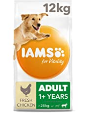 IAMS for Vitality Adult Dog Food Large Breed With Fresh Chicken, 12 Kg