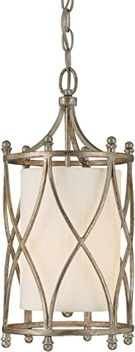 Capital Lighting 9081WG-485 Foyer with Frosted Glass Diffuser Shades, Winter Gold Finish