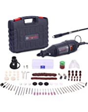 Rotary Tool Kit, GOXAWEE 130W Multi-Functional Mini Grinder Set with 140 Accessories (Keyless Chuck & Flex Shaft) Varible Speed Multi Tool for Craft Projects & DIY Creations