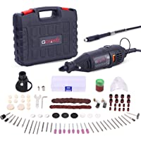 Goxawee 140-Piece Rotary Tool Kit with MultiPro Keyless Chuck and Flex Shaft