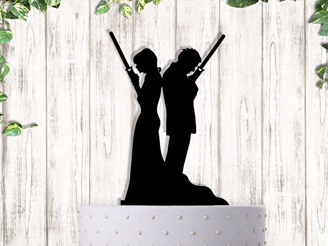 Amazon jedi couple alone star wars wedding cake topper handmade jedi couple alone star wars wedding cake topper junglespirit Images