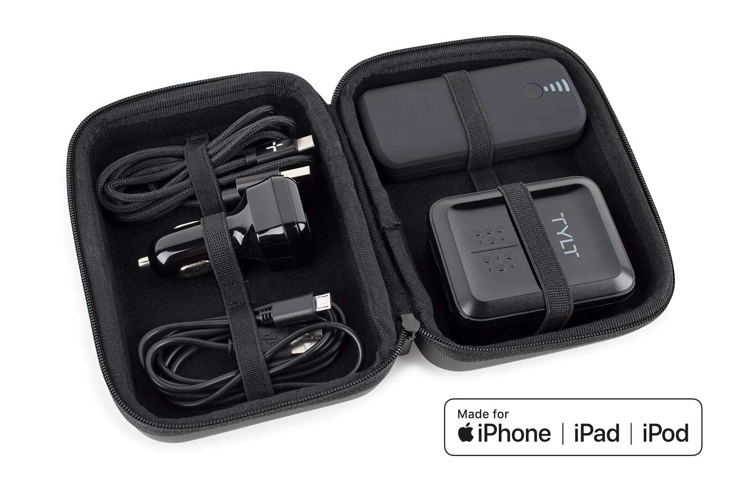 TYLT Power Essentials Battery Kit Includes 5200mAh Power Pack, 4.8 Amp Car Charger, 4.8 Amp Home Charger, Micro-USB Cable, and a Lightning (Apple MFi Certified) or USB-C Charging Cable (USB-C)