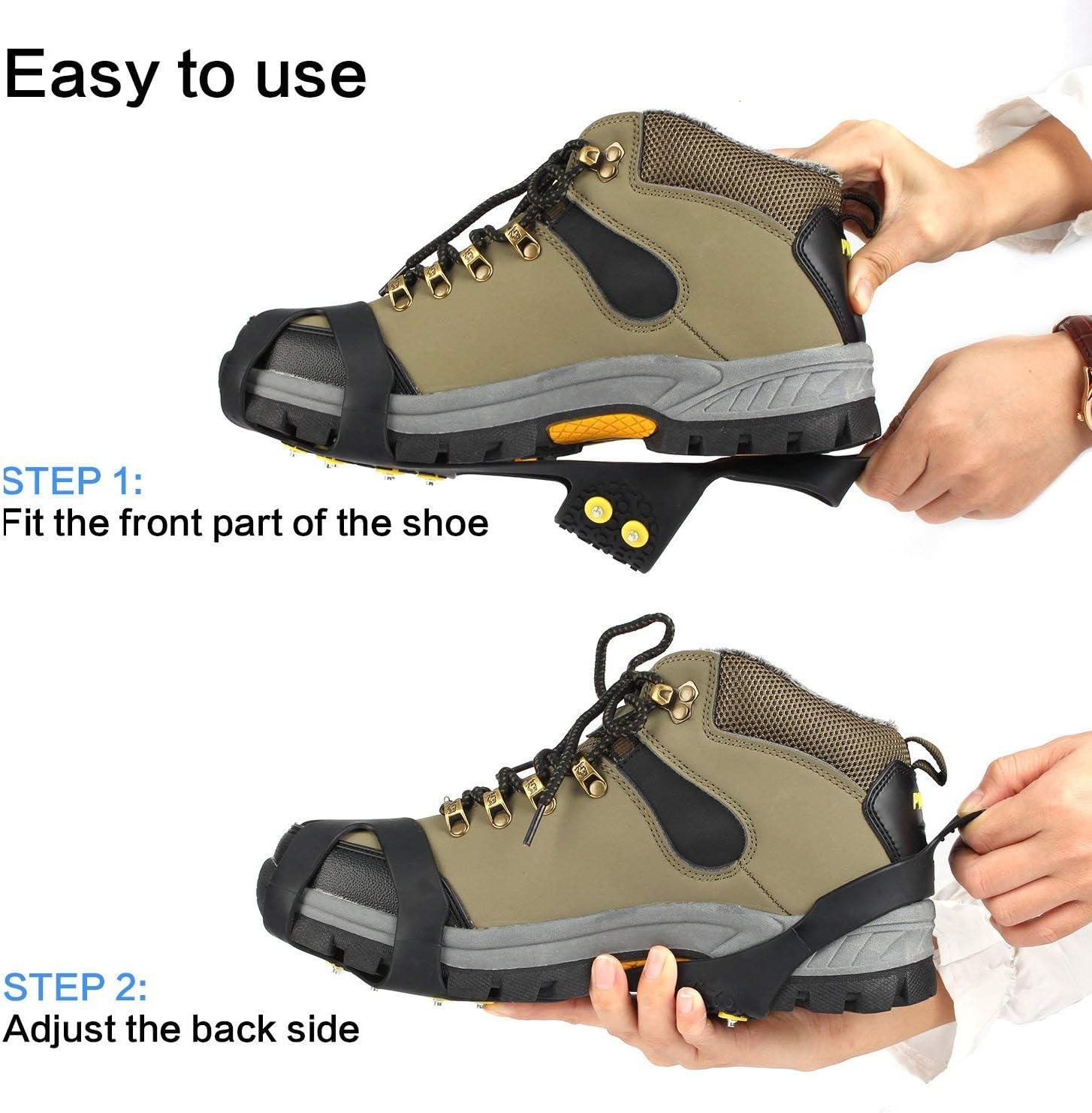 EONPOW Schuh Spikes 1 Paar Schuhspikes Schuhkralle Schuhkrallen EIS Spikes Shoe Spikes Anti Rutsch Sohle EIS Schneekette f/ür Den Stiefel