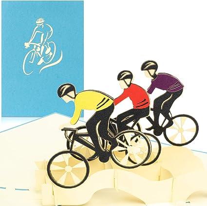 PaperCrush - Tarjeta pop-up para bicicleta con bicicleta de ...