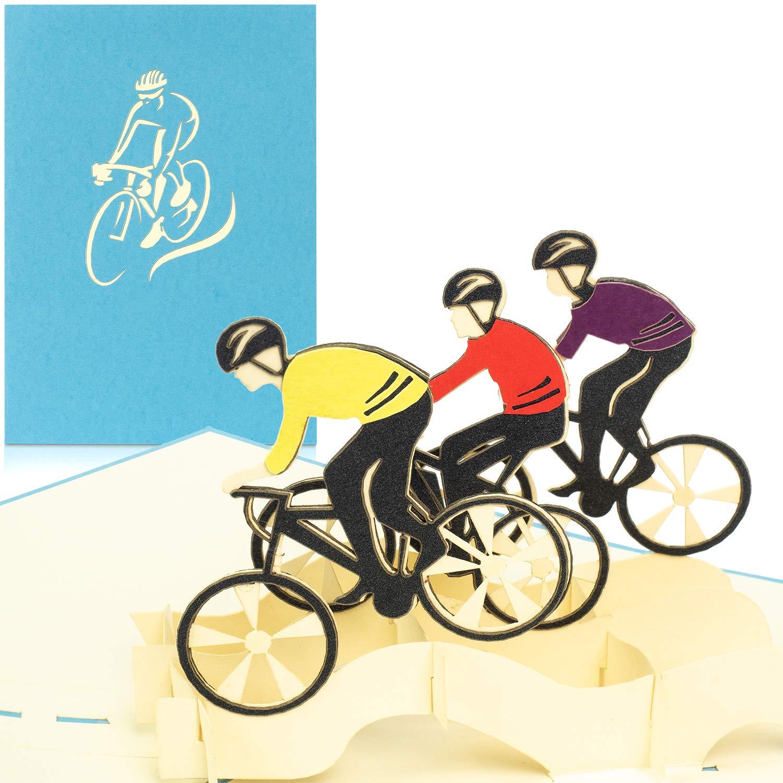 PaperCrush - Tarjeta pop-up con bicicleta de carreras - Tarjeta de ...