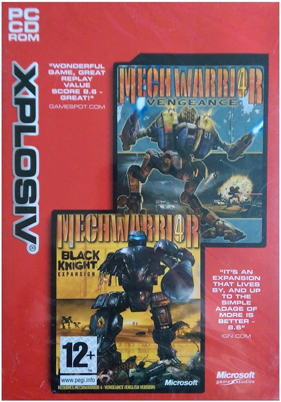 Amazon com: Mechwarrior 4 Vengeance & Black Knight Expansion