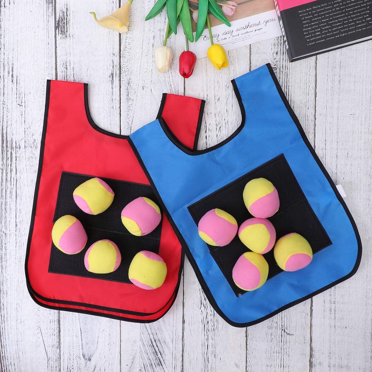 TOYANDONA 12pcs Children Sticky Ball Vest Sticky Jersey Vest Game Props for Kids