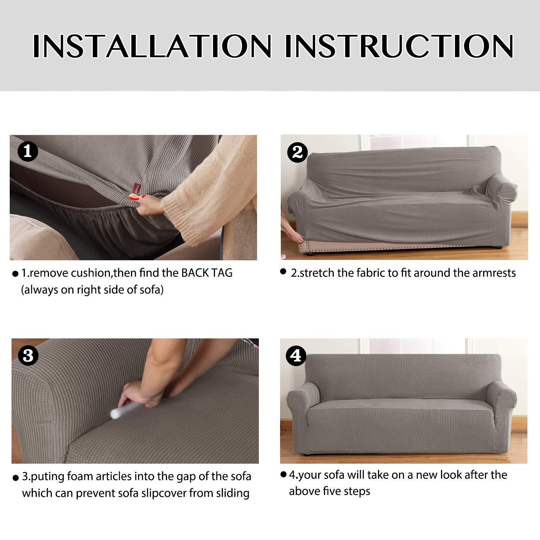 f/ür Sessel H.Versailtex Elastischer Sofabezug Rutschfest Taupe mehrere Farben abnehmbar 1 Seater//Chair Stretch Heimdeko