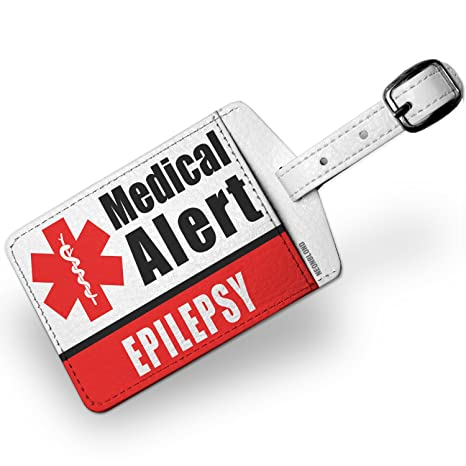 fd6e2679e Amazon.com | Luggage Tag Medical Alert Red Epilepsy - NEONBLOND | Luggage  Tags