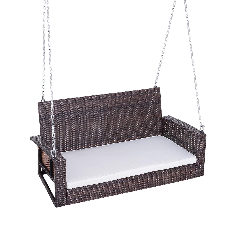 Amazon.com: Outsunny – Silla de porche con cojín, resistente ...
