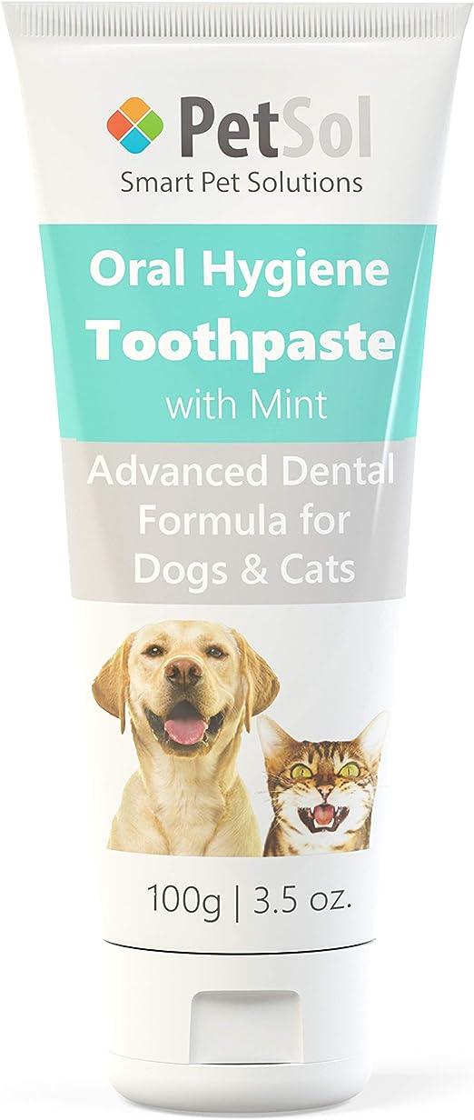 PetSol Pasta de Dientes para Perros y Gatos. Mejora la Salud de Las encías y los