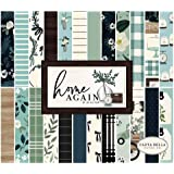 Home Again 6x6 Pad Paper, Green, Blue, Woodgrain, Black, Teal (New Version)