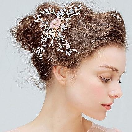 Wedding headpiece Wedding hair accessory, Bridal head piece Yellow hair piece White hair piece Yellow headpiece Pearl hair clip