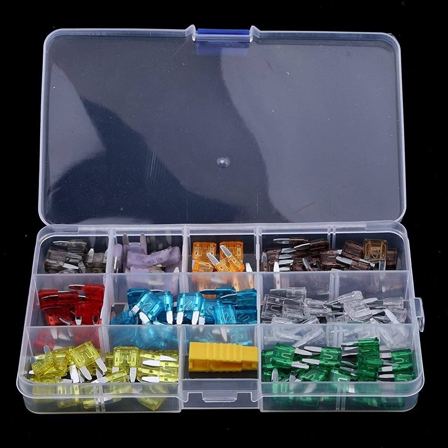 2//3//5//7.5//10//15//20//25//30//35//40 AMP 140 Pieces Assorted Car Truck Mini Blade Fuse Assortment Set with Puller Tool