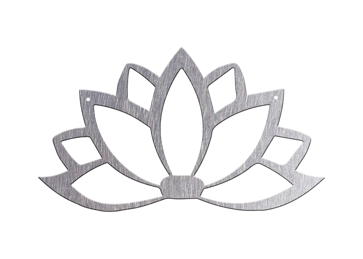 various finishes and sizes handmade in USA flower design wall sign gift for home Metal Lotus Flower steel wall hanging art decor blooming flower decal