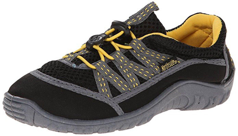 Northside Kid's Brille II Summer Water Shoe, Black/Yellow, 12 M US Little Kid; with a Waterproof Wet Dry Bag