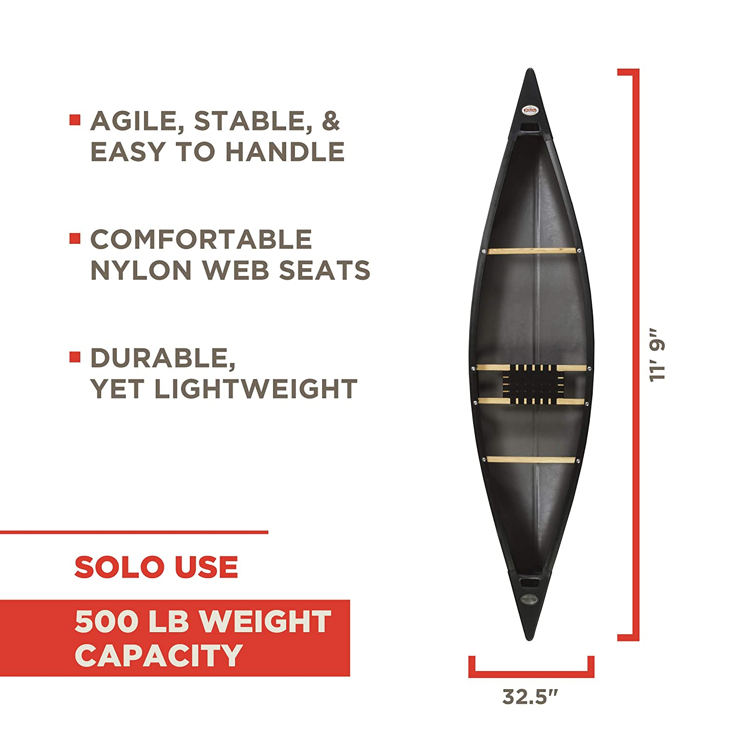 Old Town Solo Canoe 500 Lbs Capacity – For Big & Heavy People