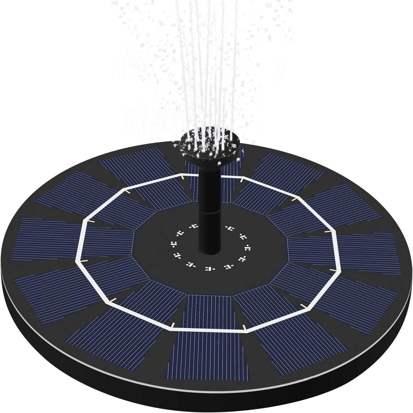 OriFiil Solar Bombas para Fuentes Ba/ño de Aves 1.8W Bomba de Agua Solar Fotante para Estanque//Piscina de jard/ín 2019 Nuevo Actualizado