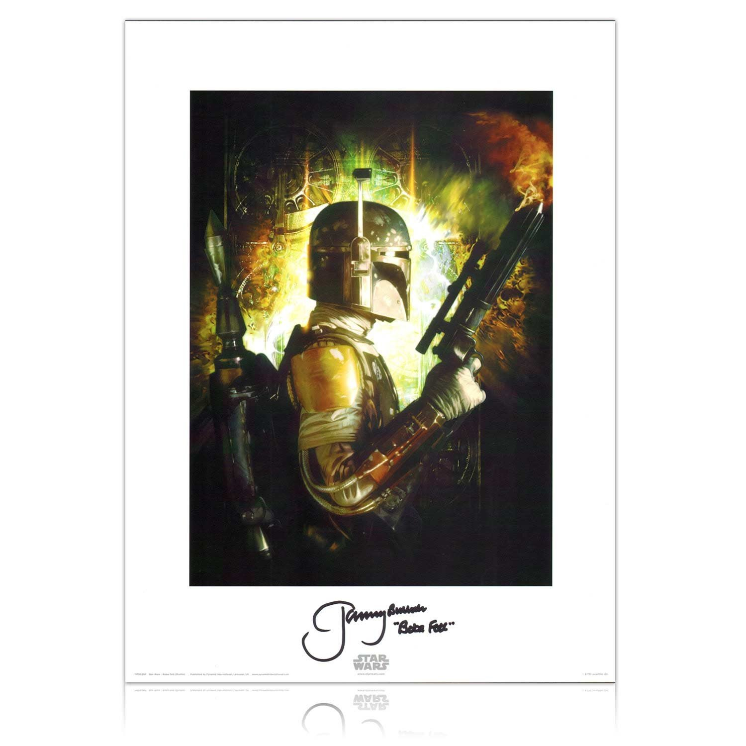 Boba Fett Signed Star Wars Bounty Hunters Poster Jeremy (Boba Fett) Exclusive Memorabilia